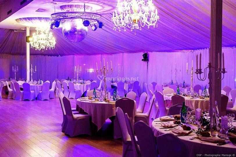 Eclairage décoratif salle