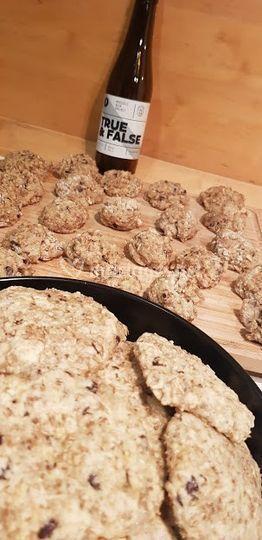 Cookies aux drêches bio&vegan