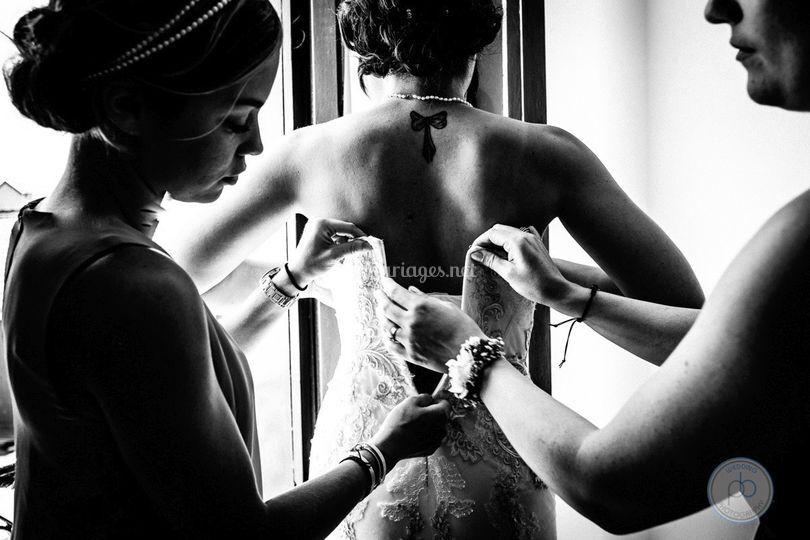 Accrochage de la robe