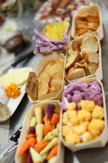 Petits légumes à dipper
