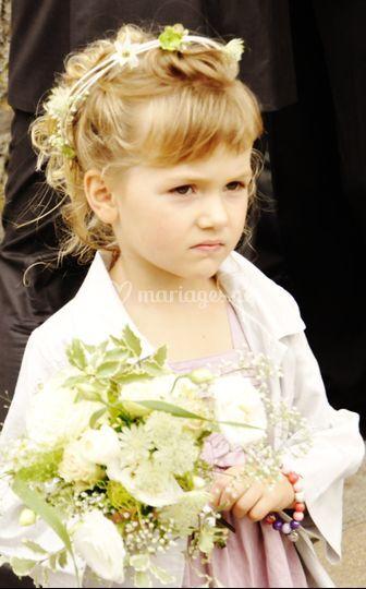 Bouquet et couronne enfant