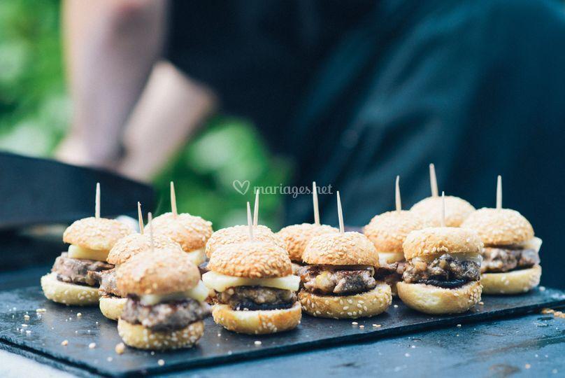 Mini burger de canard