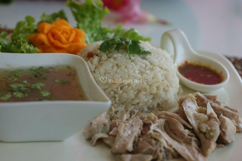 Authentique plat thai