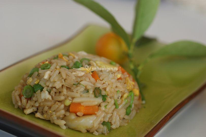 Riz sauté vegetarien
