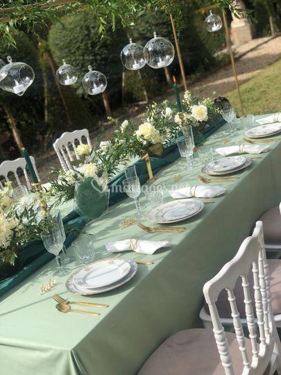 Table d'honneur green chic