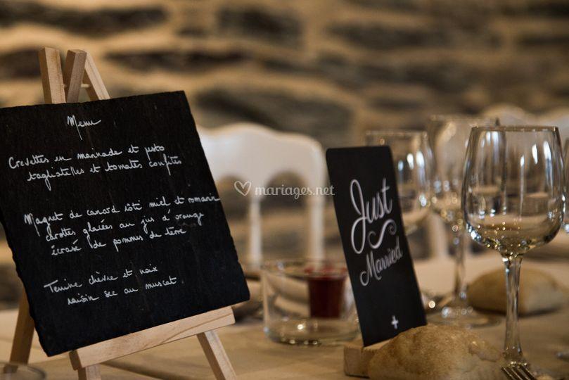 Mariage menu