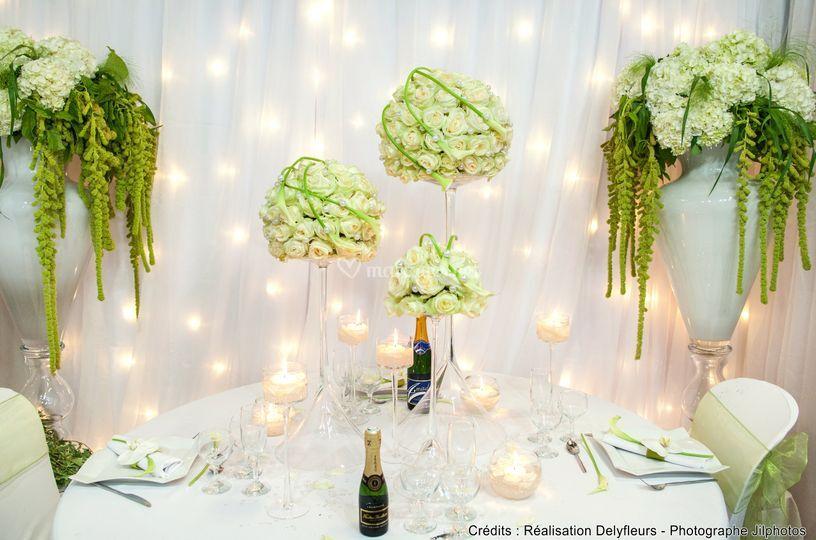 Table d'honneur sur Dely Fleurs