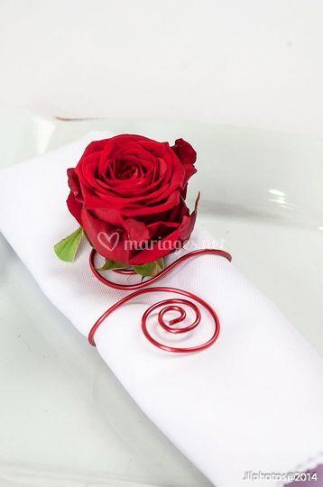 Fleurs serviettes