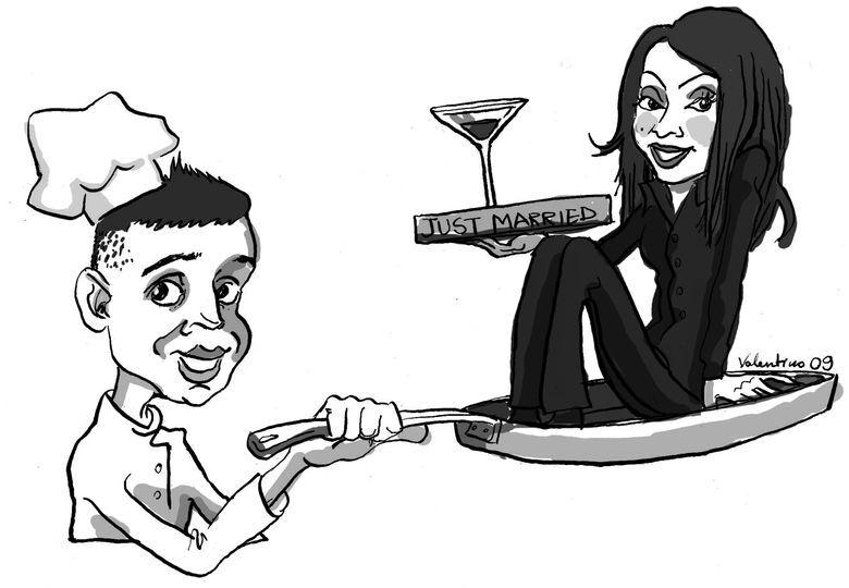 Caricature cuisinier