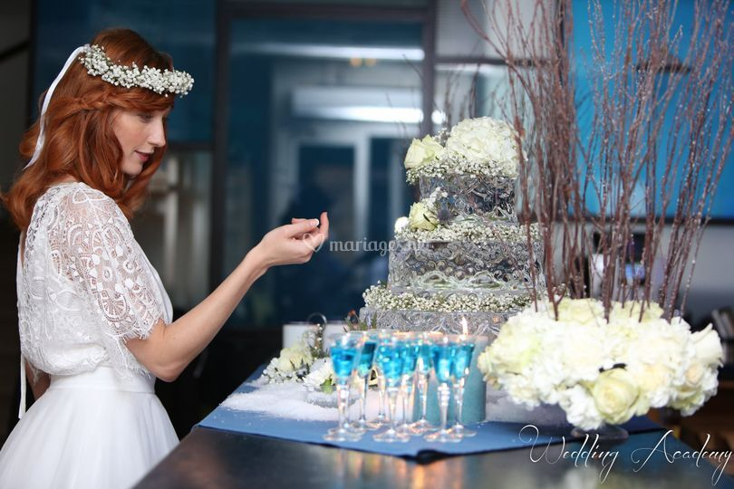 Un wedding cake en glace