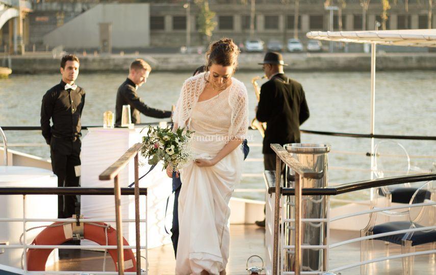 À Paris sur un bateau