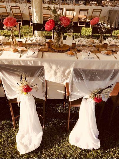 Déco chaises des mariés