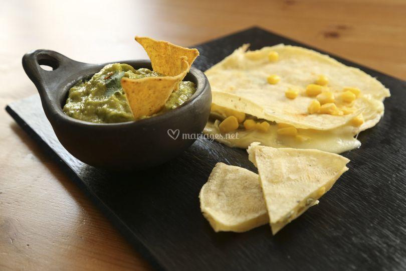 Guacamole et Quesadillas