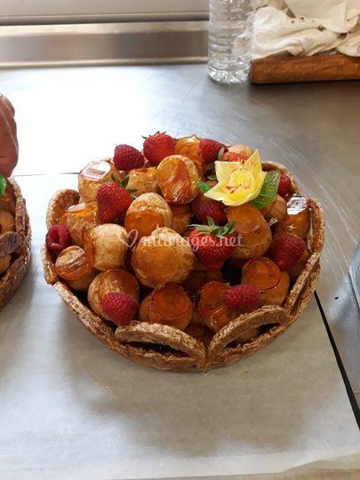 Coupe de choux et fruits frais