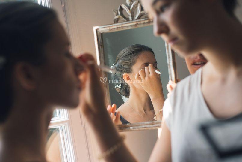 Préparatifs - le maquillage