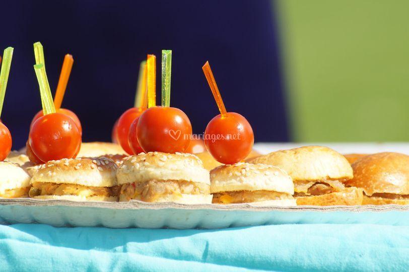Traiteur - mini hamburger