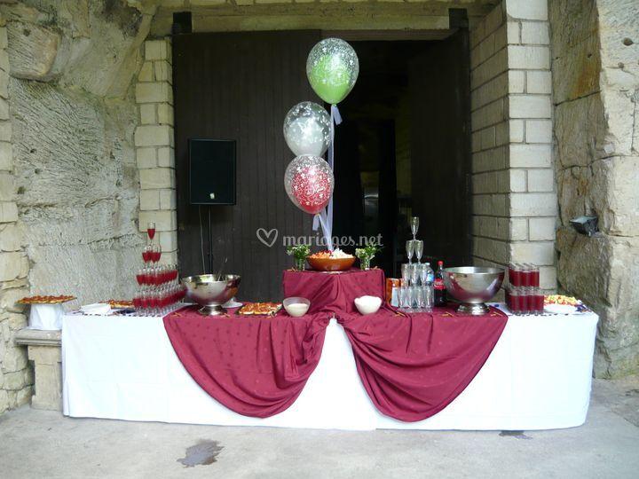 Buffet de vin d'honneur