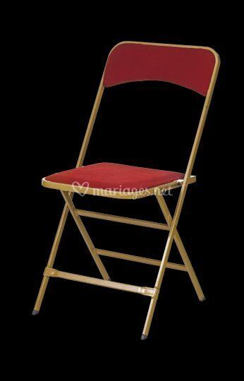 Bultel location - Chaise velours rouge ...