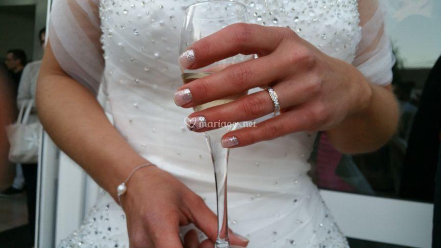 Ongles mariée
