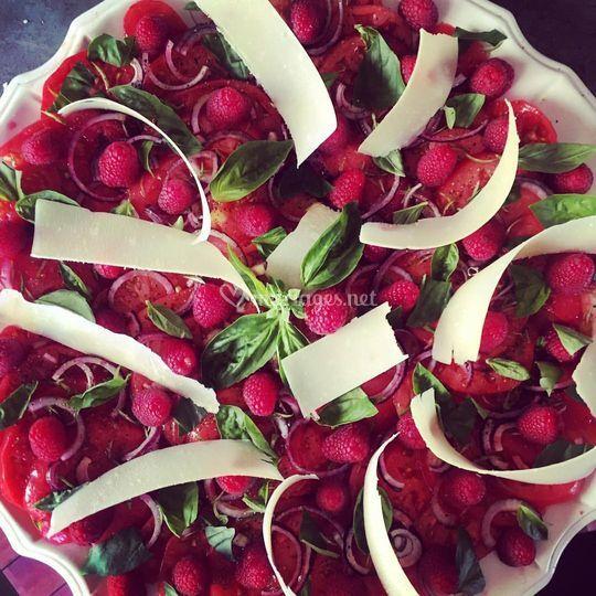 Carpaccio tomates / framboises