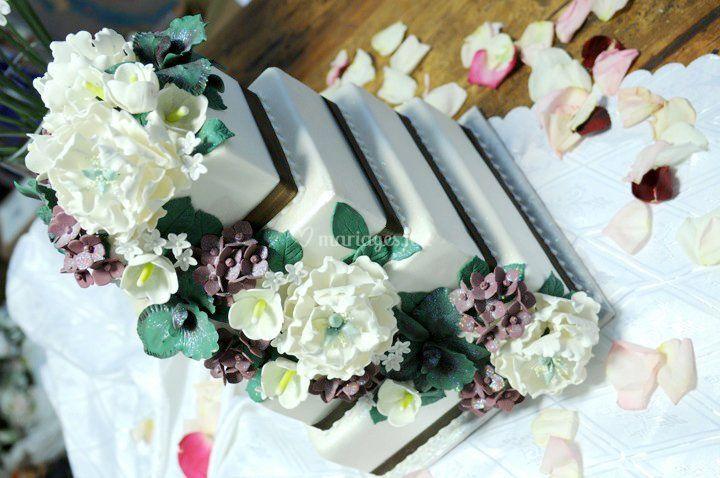 Wedding cake fleur en sucre