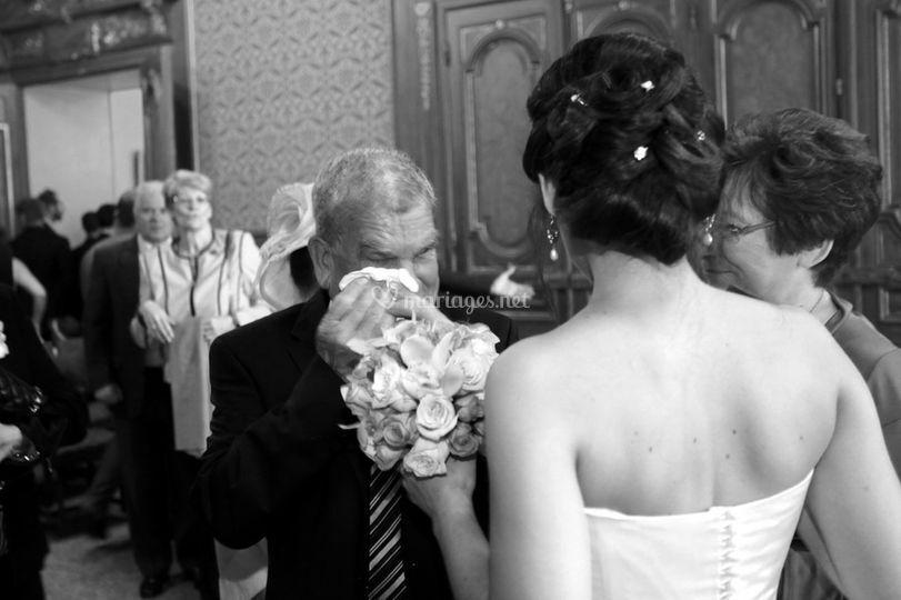émotion au mariage
