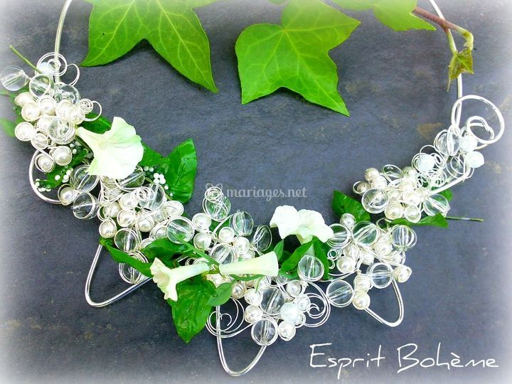 Collier fleurs sauvages