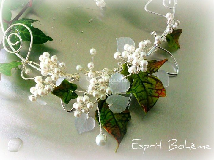 Collier mariage nature