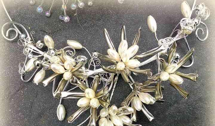 Collier mariage, fleur d'ivoire