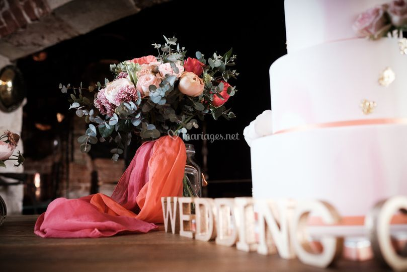 Wedding cake - fleuriste