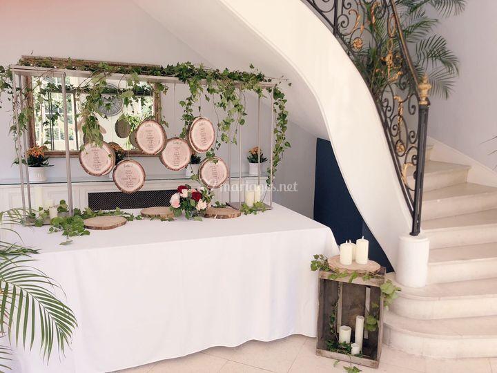 Plan de table champêtre chic