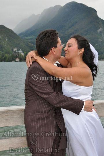 Altaïr Image Création, le baiser des mariés