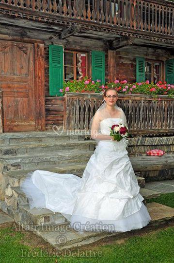 Altaïr Image Création, la mariée sur les escaliers