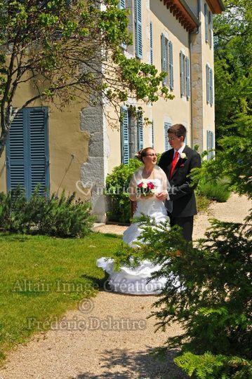 Altaïr Image Création, l'arrivée des mariés