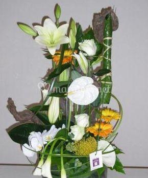 Décoration avec des fleurs