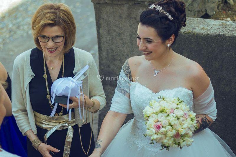 Maquillage mariée et sa maman