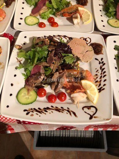 Salade terre et mer