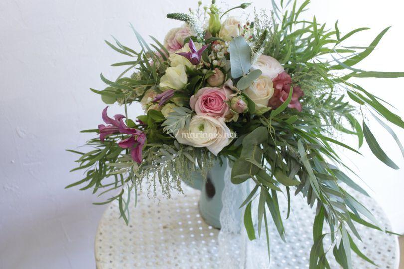 Bouquet de mariée folk/végétal