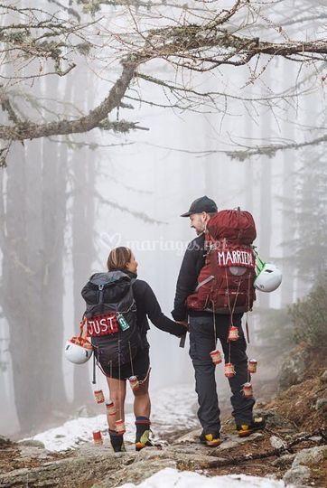 Mariage a la montagne en hiver