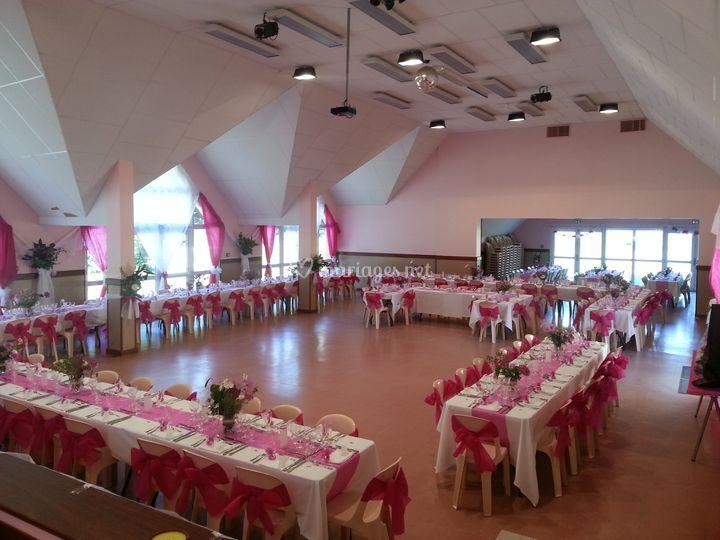 Mariage décoration rose