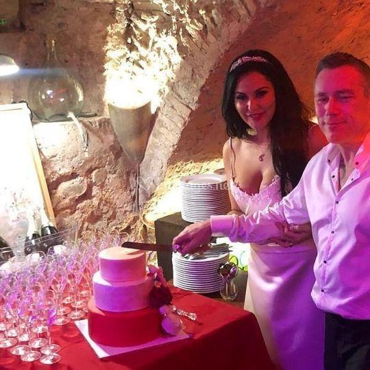 Gâteau mariage fleur
