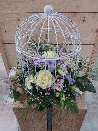 Centre de table cage