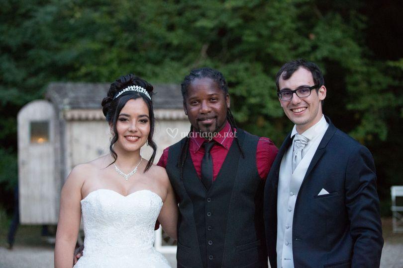 Avec les mariés