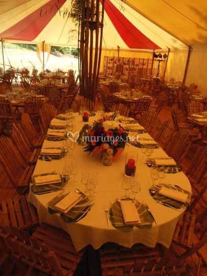 Table des mariés 13-14 places