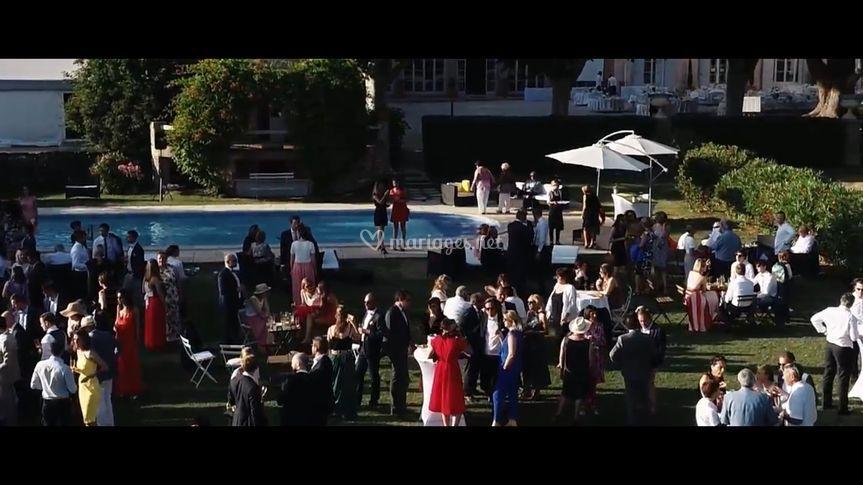 Cocktail mariage en drone