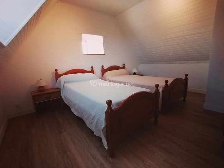 Chambre lits simples s