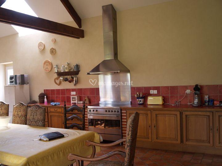Cuisine du gîte, 60 m²