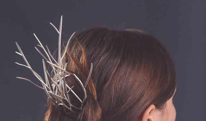 Pic à cheveux argent