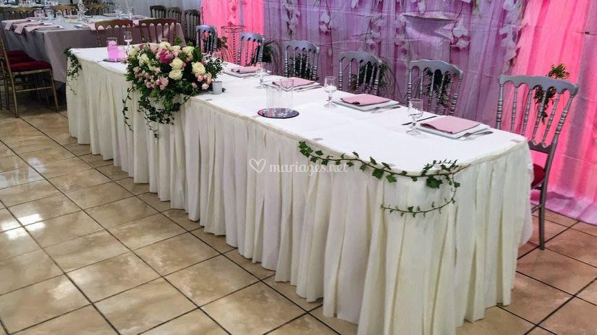 Table spéciale pour le couple