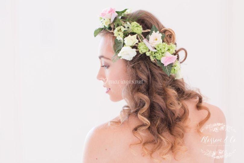 Couronne fleurs mariée